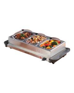 Brentwood 3 Pan Buffet Server And Warming Tray 180W