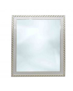 Mirror With Decorative White Frame 57x47cm
