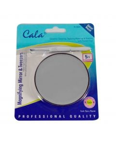 Cala 5x Reflection Precision Mini Magnifying mirror With 2 Suction Cups And
