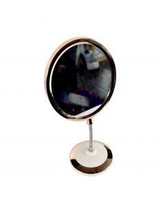 Oval Cosmetic Mirror With Stand 17x16cm