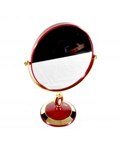 Round Double Sided Mirror With Stand 15x16cm