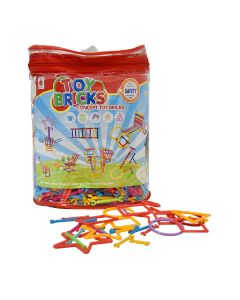 Plastic Puzzle Building Sticks & Shapes Set 850 Pieces