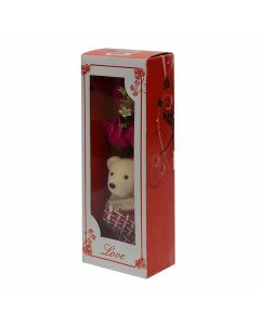Valentine Bear With Roses