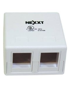 Nexxt Unloaded Surface Mount Box With Two Ports