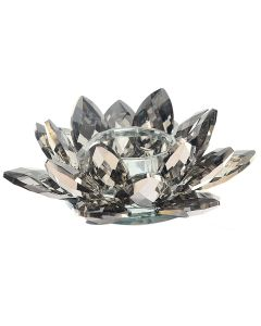 Crystal Lotus Candle Holder 12cm