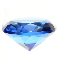 Glass Diamond Decoration 8 x 6cm