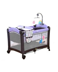 Baby's Little Hut Play Pen Portable Travel Bed Cum Cot