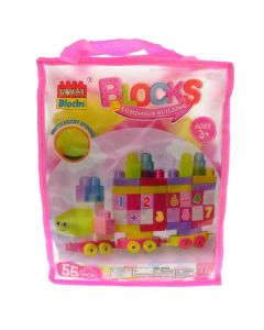 Plastic Building Blocks Set 55 Pieces