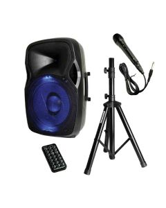 Audiopipe Bluetooth Speaker Box With Microphone 600W