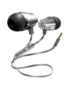 Coby Flat Cable Metal Stereo Earbuds