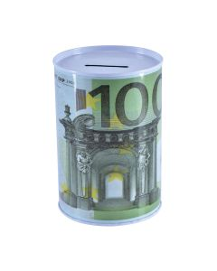 Piggy Bank With Euro Design 9x12cm